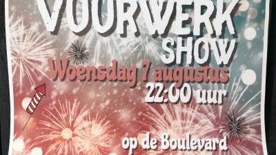 Vuurwerk Show 2019 Schakelvilla Ferienhaus in Makkum Beach am IJsselmeer