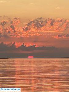 Sonnenuntergang auf dem IJsselmeer