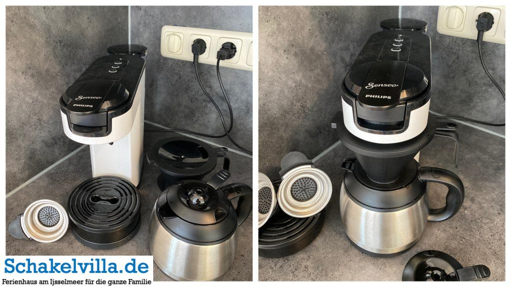 neue Kaffeepad- und Kaffeefiltermaschine von Philips Senseo - Schakelvilla Ferienhaus für die ganze Familie