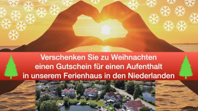 Gutschein für einen Ferienhausaufenthalt zu Weihnachten verschenken - schakelvilla - Ferienhaus mit Sauna am IJsselmeer