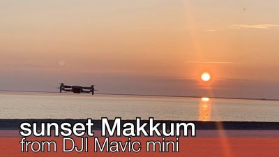 sunset Makkum from DJI Mavic mini - Schakelvilla - Ferienhaus mit Sauna udn Ruderboot am IJsselmeer in Makkum
